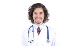 Retrato do doutor que sorri na câmera imagem de stock royalty free