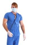 Retrato do doutor 'sexy' em um fundo branco Imagem de Stock Royalty Free