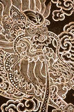 Retrato do dragão na arte tailandesa do estilo Fotos de Stock Royalty Free