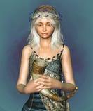 Retrato do duende da fantasia ilustração royalty free