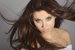 Retrato do encanto da mulher Imagem de Stock