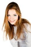 Retrato do encanto da mulher nova fotografia de stock royalty free