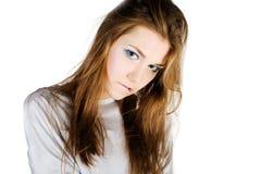 Retrato do encanto da mulher nova foto de stock royalty free