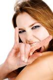 Retrato do encanto da mulher nova imagem de stock royalty free