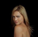 Retrato do encanto de uma mulher Fotos de Stock Royalty Free