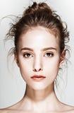 Retrato do encanto do modelo bonito da mulher com Imagem de Stock