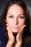 Retrato do encarregado da mulher nova fotografia de stock royalty free