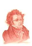 Retrato do esboço do Watercolour de Franz Schubert Fotos de Stock Royalty Free