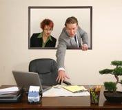 Retrato do escritório Fotos de Stock