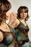 Retrato do espelho Imagens de Stock Royalty Free