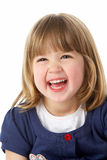 Retrato do estúdio da rapariga de riso foto de stock royalty free