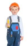 Retrato do estúdio de um rapaz pequeno Foto de Stock Royalty Free