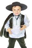 Retrato do estúdio de um rapaz pequeno Imagem de Stock