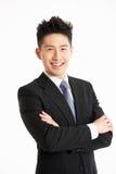 Retrato do estúdio do homem de negócios chinês Imagem de Stock