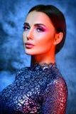 Retrato do estúdio do modelo de forma 'sexy' Imagem de Stock
