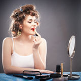 Retrato do estilo da beleza da mulher Fotografia de Stock Royalty Free