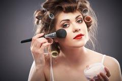 Retrato do estilo da beleza da mulher Foto de Stock Royalty Free
