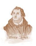 Retrato do estilo da gravura de Martin Luther Foto de Stock