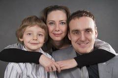 Retrato do estilo de vida da família Imagem de Stock