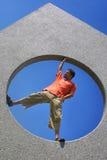 Retrato do estilo do homem de Vitruvian foto de stock royalty free