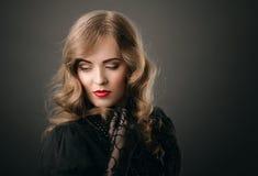 Retrato do estilo do vintage Imagens de Stock
