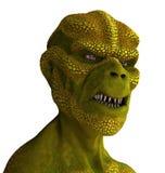 Retrato do estrangeiro do Reptilian ilustração stock