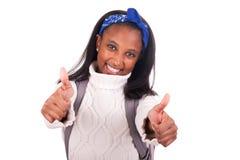 Retrato do estudante africano novo Imagem de Stock