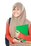 Retrato do estudante da criança dos muçulmanos foto de stock