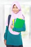 Retrato do estudante da criança dos muçulmanos Imagens de Stock