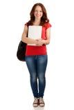Retrato do estudante fêmea com livros imagens de stock royalty free