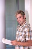 Retrato do estudante masculino Imagens de Stock Royalty Free