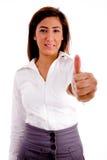 Retrato do executivo com polegares acima Fotografia de Stock