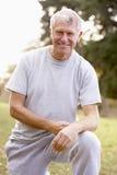 Retrato do exercício do homem sênior Imagem de Stock