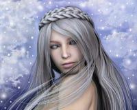 Retrato do fairy do inverno Fotos de Stock