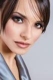 Retrato do Fim-acima da jovem mulher Imagem de Stock Royalty Free