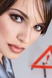 Retrato do Fim-acima da jovem mulher Foto de Stock Royalty Free
