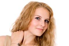 Retrato do Fim-acima de uma menina encantador. fotografia de stock royalty free