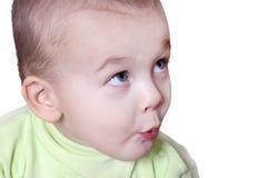 Retrato do fim agradável do bebê acima Imagens de Stock Royalty Free
