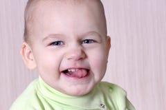 Retrato do fim agradável do bebê acima Imagem de Stock