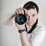 Retrato do fotógrafo masculino Fotos de Stock Royalty Free