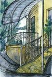 Retrato do fragmento do edifício Fotografia de Stock