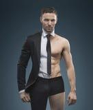 Retrato do gerente muscular considerável foto de stock royalty free