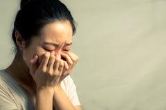 Retrato do grito da mulher Imagem de Stock Royalty Free