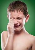 Retrato do grito do menino Fotos de Stock Royalty Free