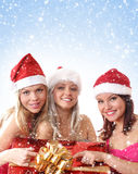 Retrato do grupo do Natal imagens de stock