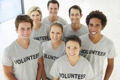 Retrato do grupo voluntário fotos de stock royalty free