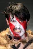 Retrato do guerreiro furioso fotografia de stock royalty free