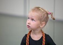 Retrato do gymnast novo fotografia de stock