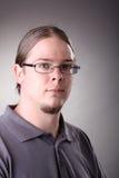 Retrato do homem com cabelo longo Fotos de Stock