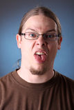 Retrato do homem com cabelo longo Imagens de Stock Royalty Free